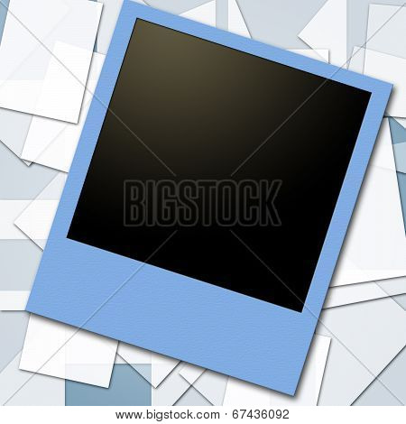 Photo Frames Means Blank Space And Background