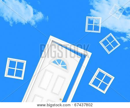 House Door Means Desire Residential And Habitation