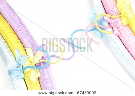Beautiful hangers isolated on white