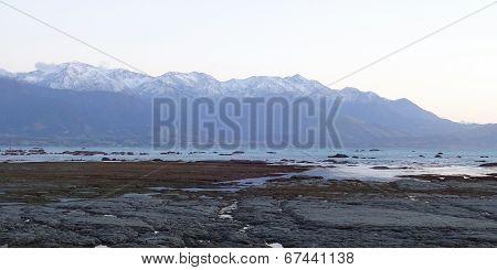 Kaikoura Range Above Ocean