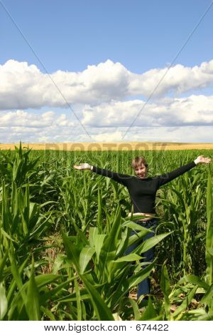 Girl In Cornfield
