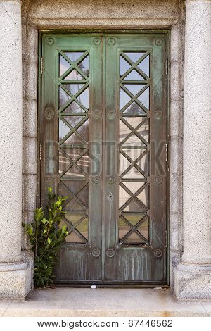 Mausoleum door
