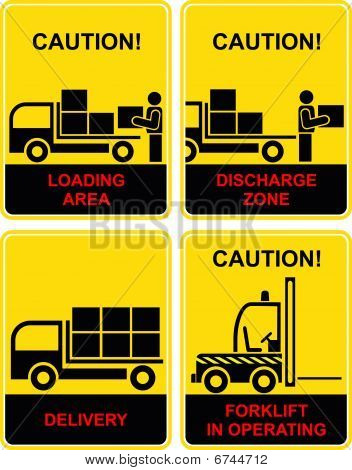 Delivery, loading area, discharge