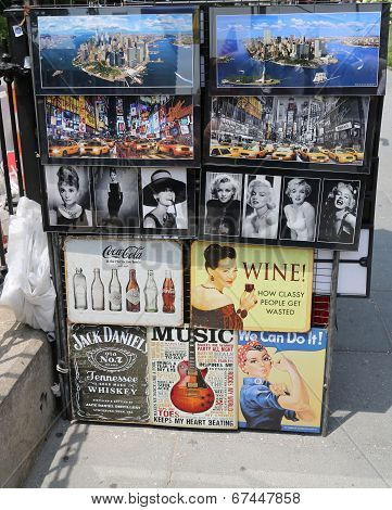 New York City souvenirs on display in Manhattan