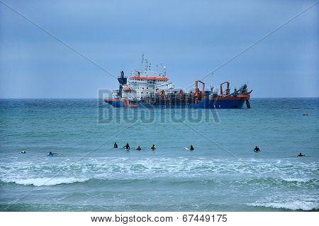 Dredge In Seawater