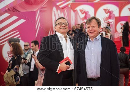 MOSCOW - JUNE, 19: I.Ugolnikov, I.Butman . 36th Moscow International Film Festival. Opening Ceremony at Pushkinsky Cinema . June 19, 2014 in Moscow, Russia