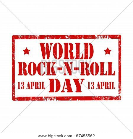 World Rock-n-roll Day-stamp
