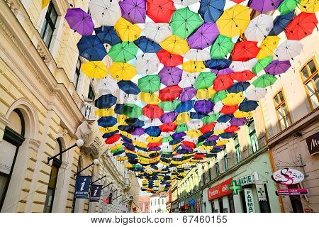 Street With Umbrellas