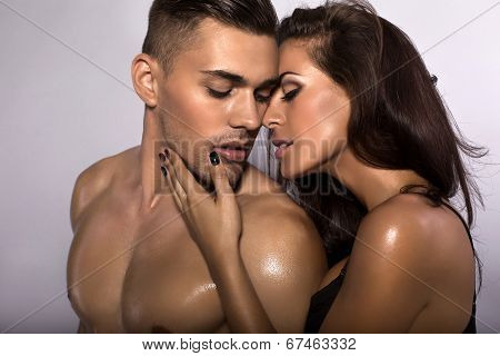 Portrait Of Sexy Impassioned Couple