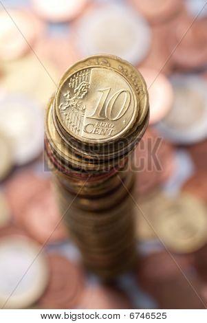 Euro Coin Stack