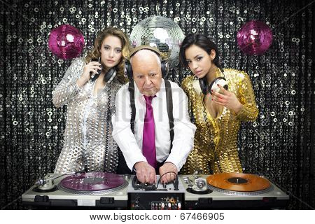 Grandpa Dj And Two Beautiful Gogo Dancers