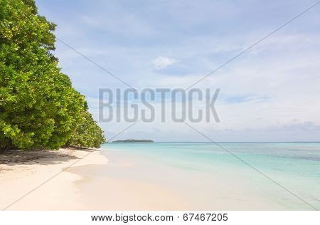 Beach on Zapatilla island, Bocas del Toro, Panama