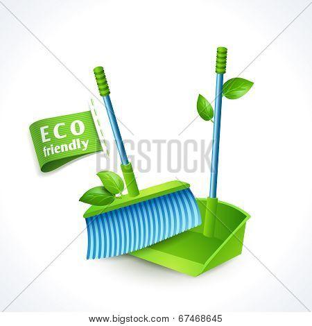Ecology symbol dustpan and brush