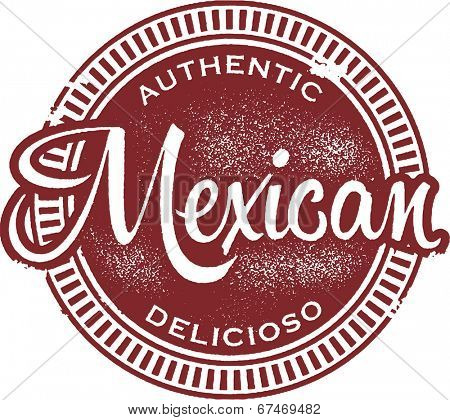 Authentic Mexican Food Menu Stamp