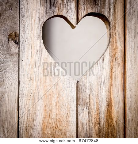 The Wooden Door With Heart