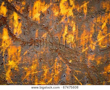 Yellow Rusted Iron Sheet