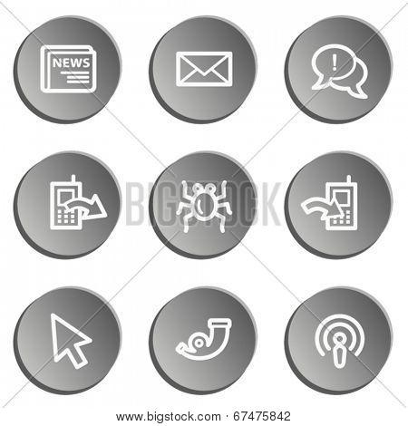 Internet  web icon set 2, grey stickers set