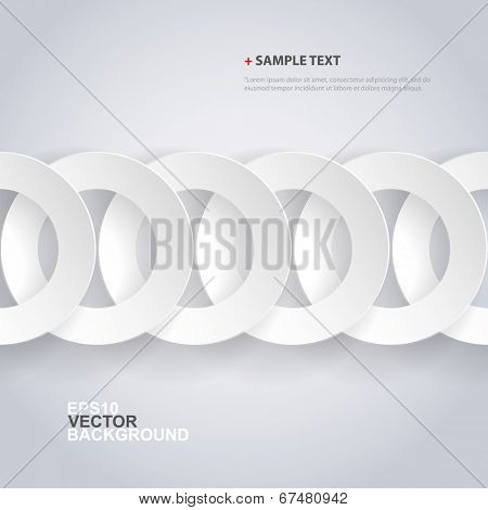 Papercut Rings Background Design
