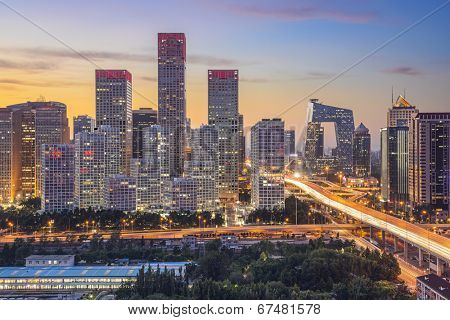 Beijing, China skyline at the central business district.