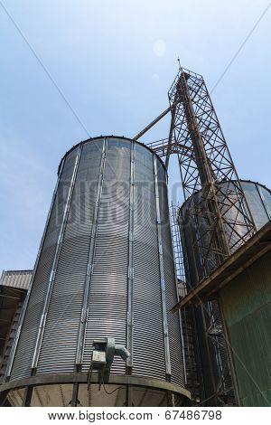 Big Metal Silo Agricultural Granary