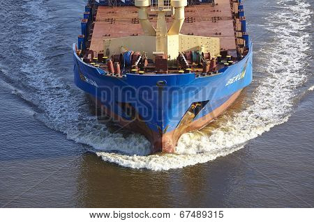 Beldorf - Bulbous Bow Of Vessel At Kiel Canal