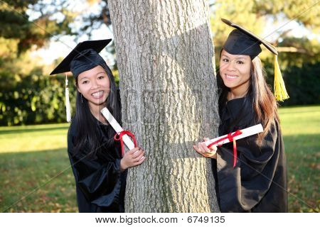 Cute Asian Girls At Graduation