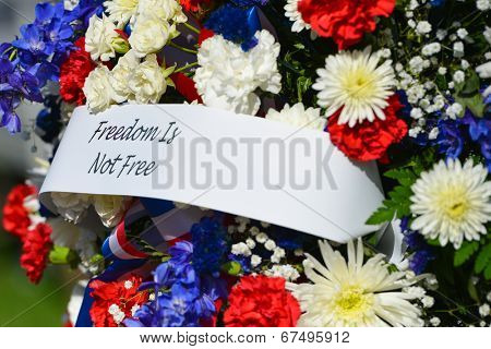 WASHINGTON, D.C. - MAY 27, 2013:A wreath with