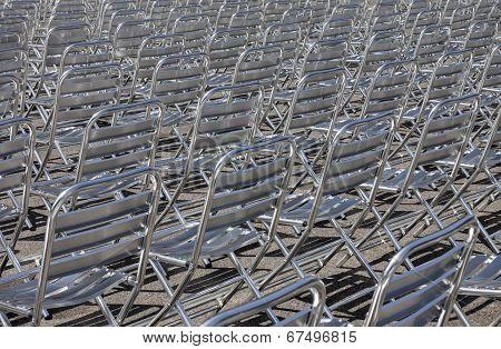 Metal Chair Rows