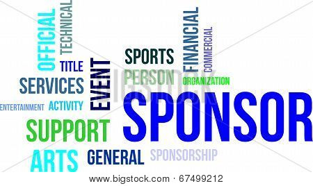 word cloud - sponsor