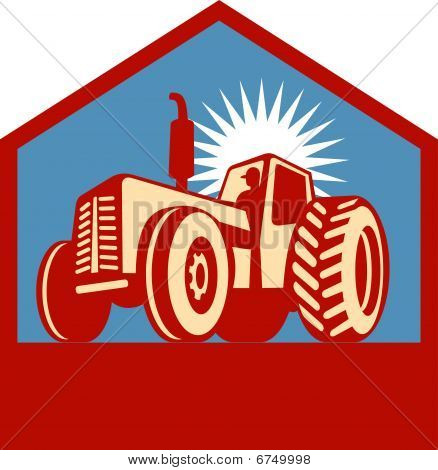 retro styled tractor
