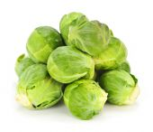 picture of brussels sprouts  - Bunch of green brussels sprouts isolated on white background - JPG