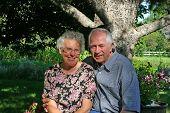 foto of elderly couple  - An elderly couple - JPG