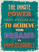 foto of possess  - Retro Vintage Motivational Quote Poster - JPG