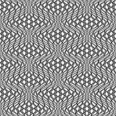 stock photo of distort  - Design seamless monochrome wave pattern - JPG