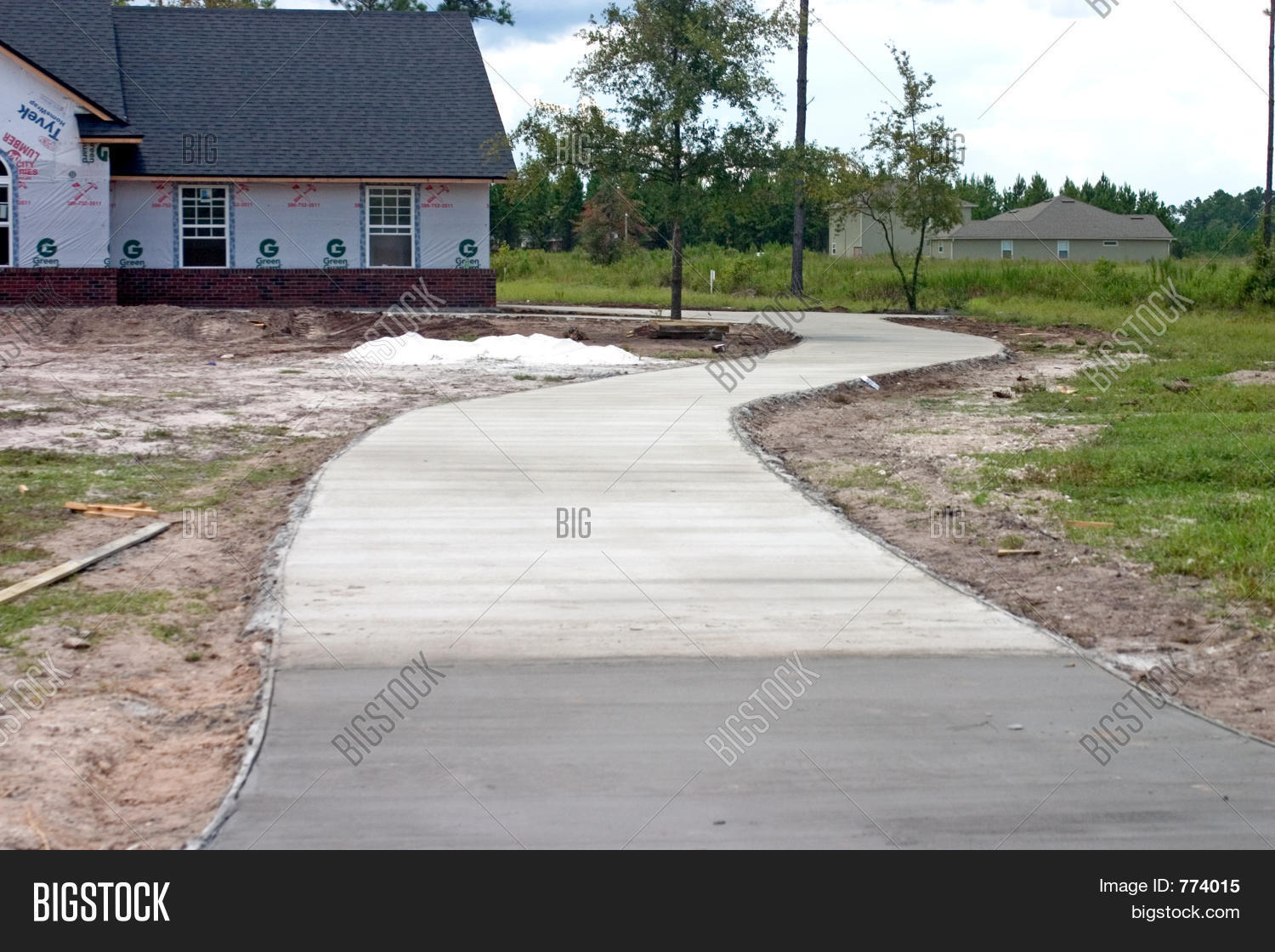 New concrete driveway stock photo stock images bigstock for New concrete driveway