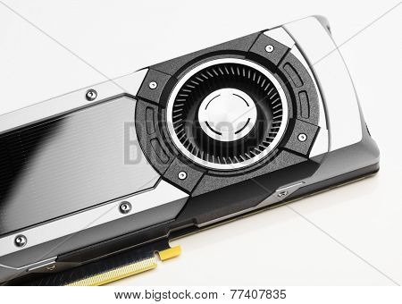 professional gaming graphic card, closeup view