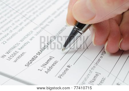 Filling document