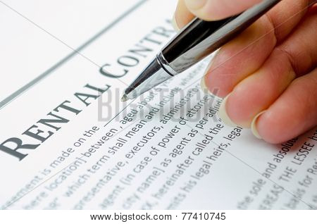 Filling rental contract
