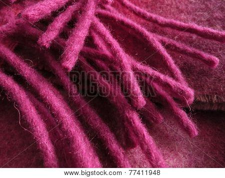 pink wool fringe