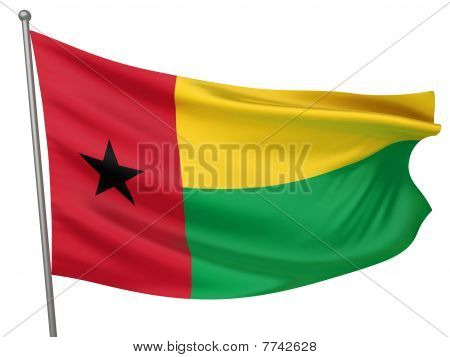 Guinea-bissau National Flag