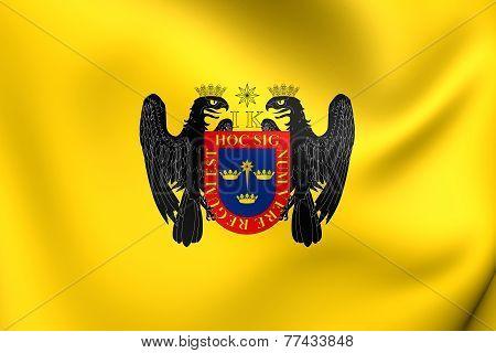 Flag Of Lima, Peru.