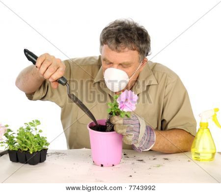 Gardener With Mask
