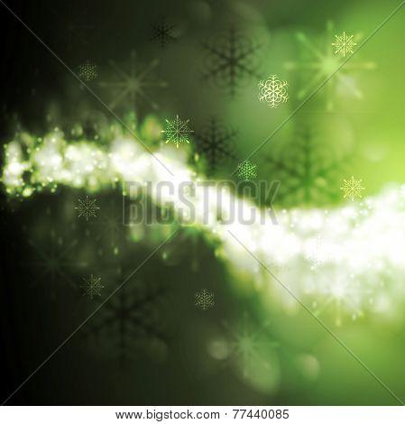 Abstract green iridescent Xmas background. Vector design eps 10
