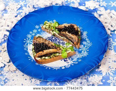 Christmas Food Beluga  Caviar