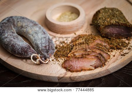 Meat Fillet And Sausage