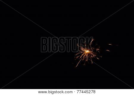 Sparkler in absolute darkness