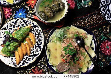Uzbek National Dishes