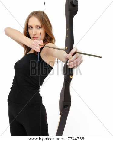 Concentration - Woman With Bow