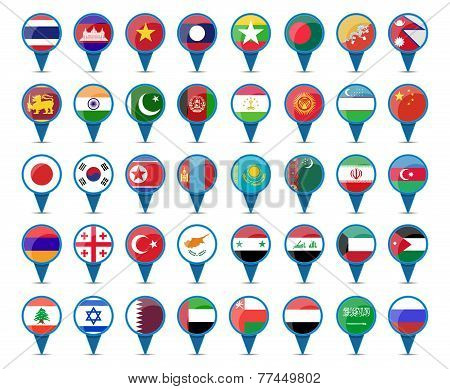 National Flags Of Asia