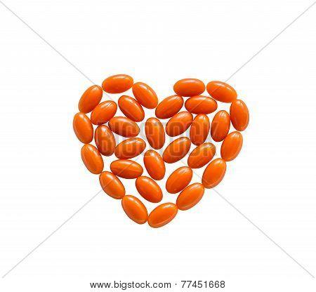 Coenzyme Q10 heart shape